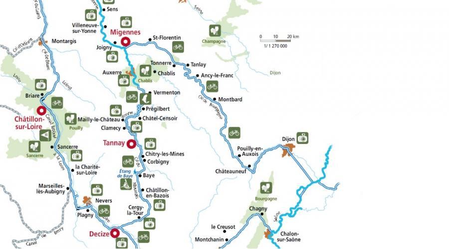 Mappa Borgogna: Loira - Nivernais