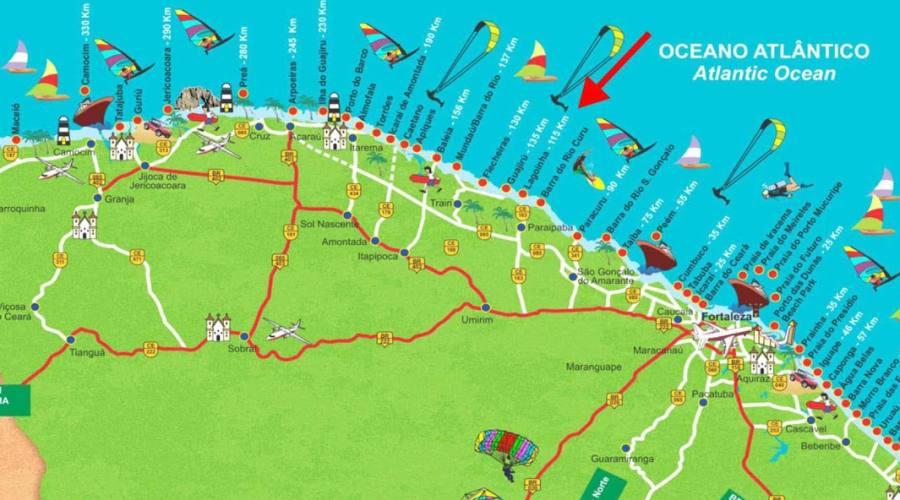 Appartamento 1 o 2 camere zona Porto de Iracema Agosto 2019: Fortaleza mappa delle attrazioni
