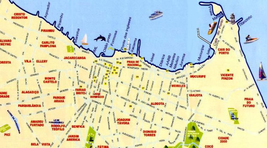 Appartamento 1 o 2 camere zona Porto de Iracema Agosto 2019: mappa quartieri di Fortaleza