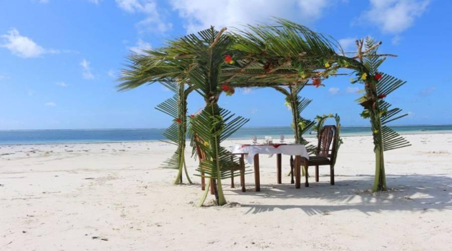 per una cena romantica sulla spiaggia