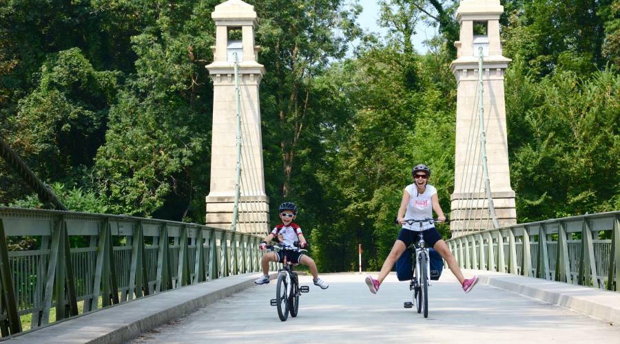 pedalata sul ponte