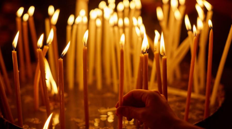 Candele al Santo Sepolcro