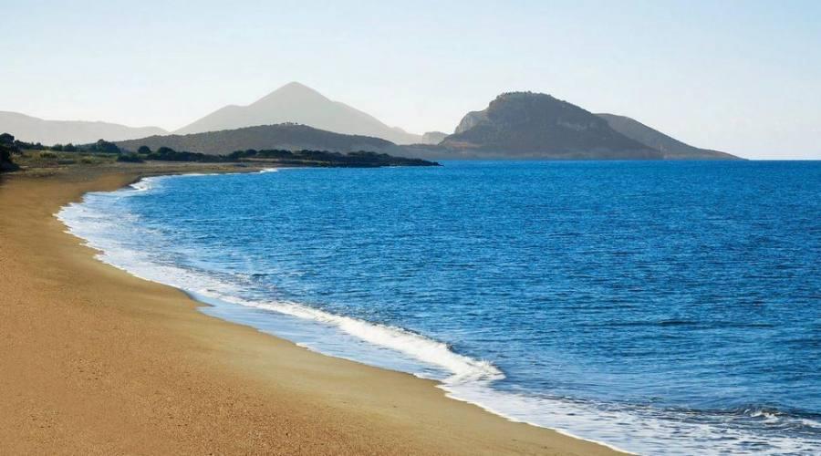 La bellissima spiaggia...