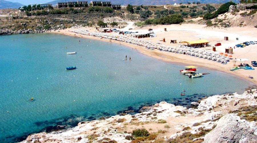 Vista della magnifica spiaggia...