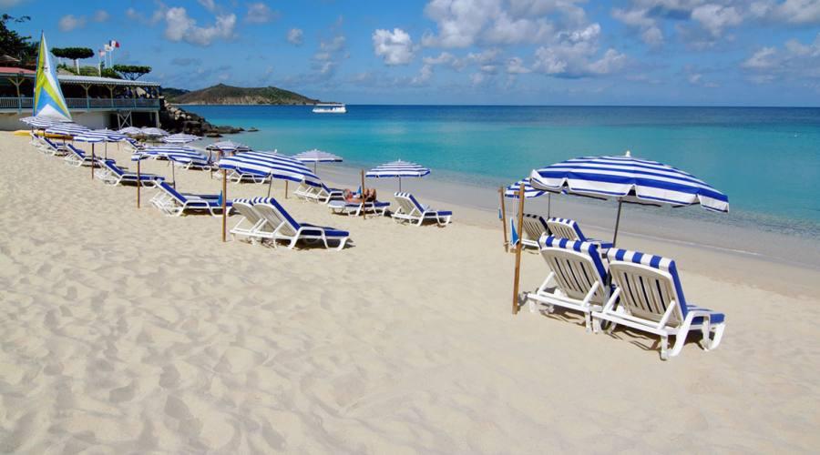 La spiaggia del Grand Case Beach Club