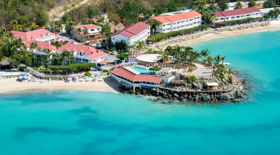Vista dall'alto, Grand Case Beach Club