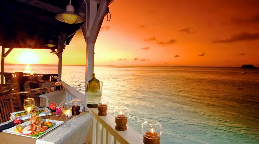 Cena al tramonto, Grand Case Beach Club