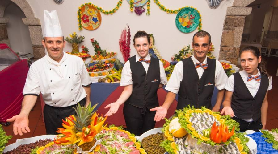 Lo chef e il suo staff