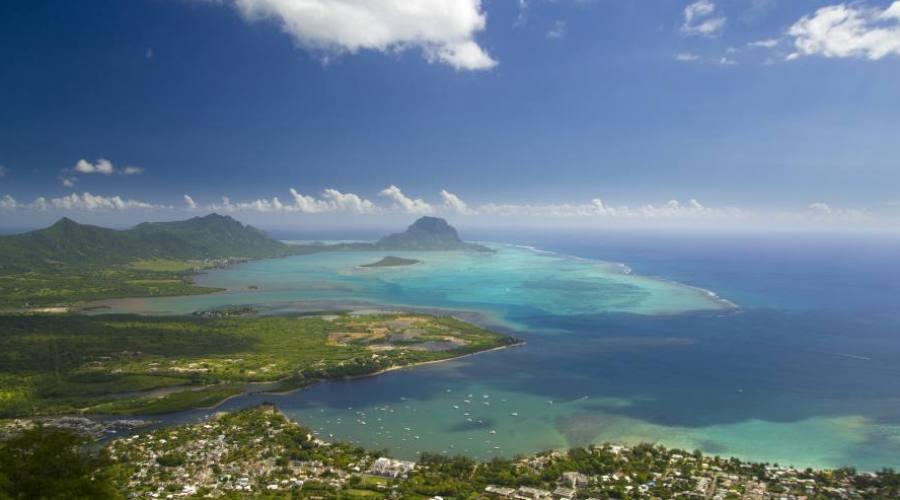 Vista dall'alto di una parte dell'isola