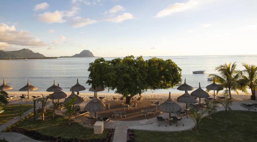 Vista della spiaggia dalla terrazza