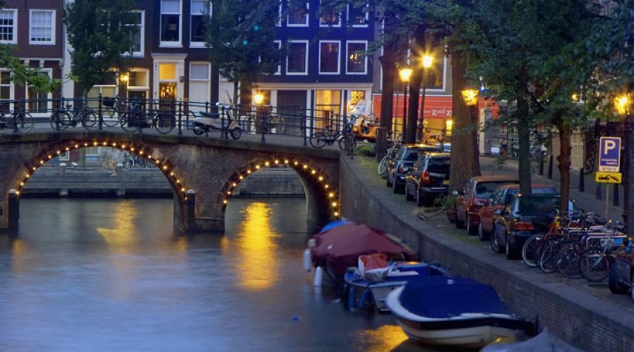 Amsterdam la sera