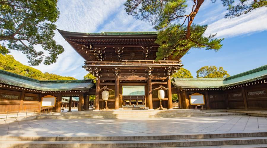 Il santuario Meiji a Tokyo