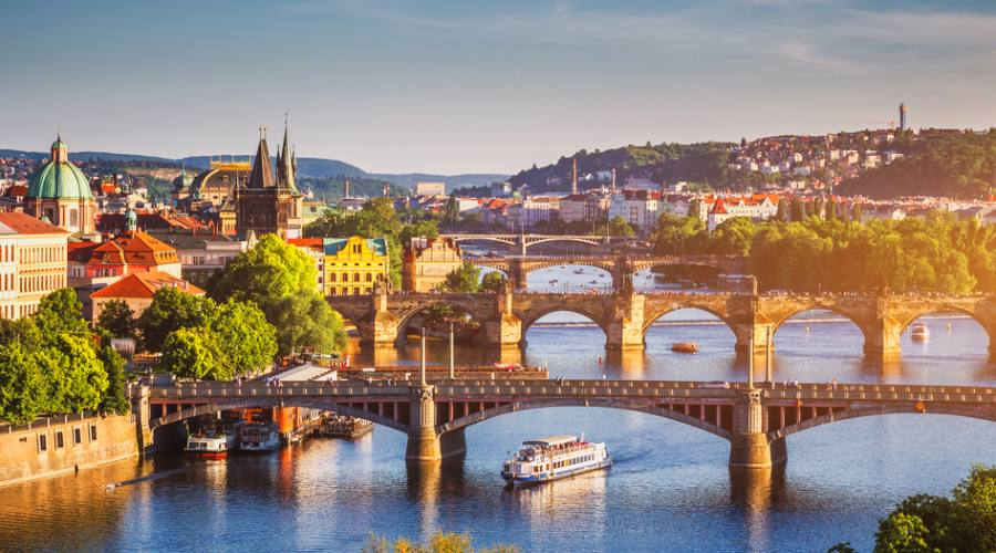Praga, gita sulla Moldava
