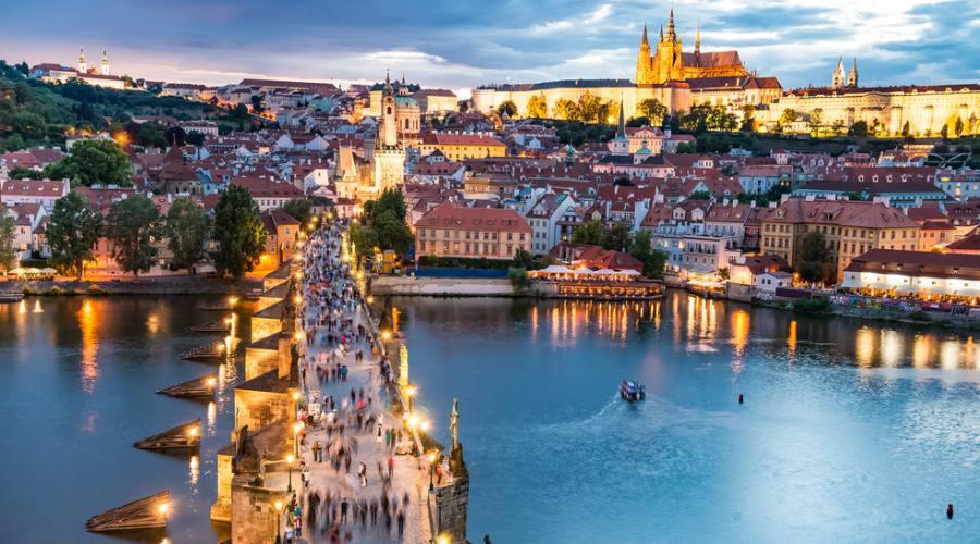 Praga, passeggiata su Ponte Carlo