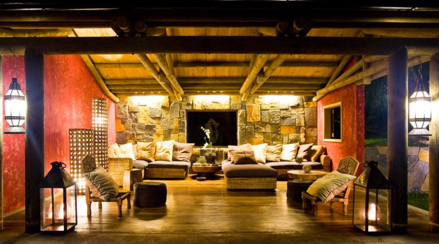 La lounge del lodge