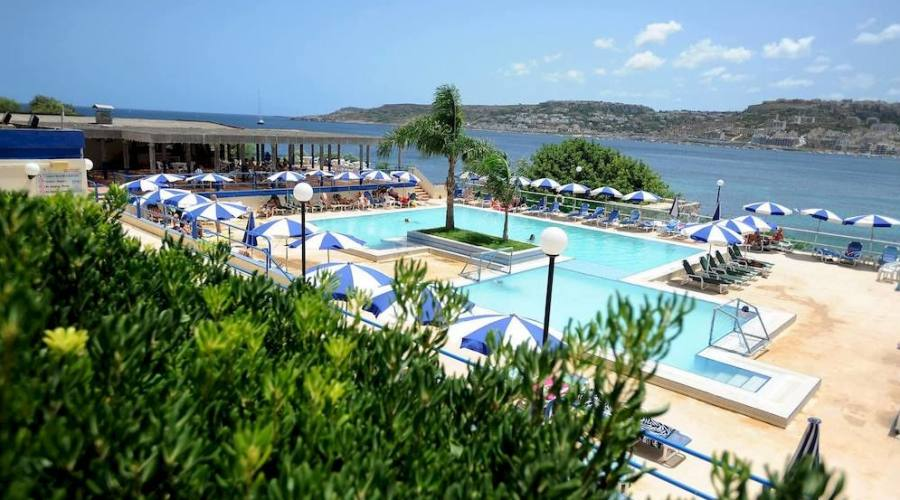 Mellieha Bay Hotel: Vista dai Giardini