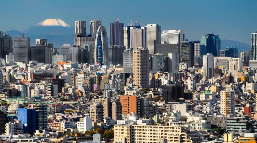 Tokyo - Skyline con Monte Fuji