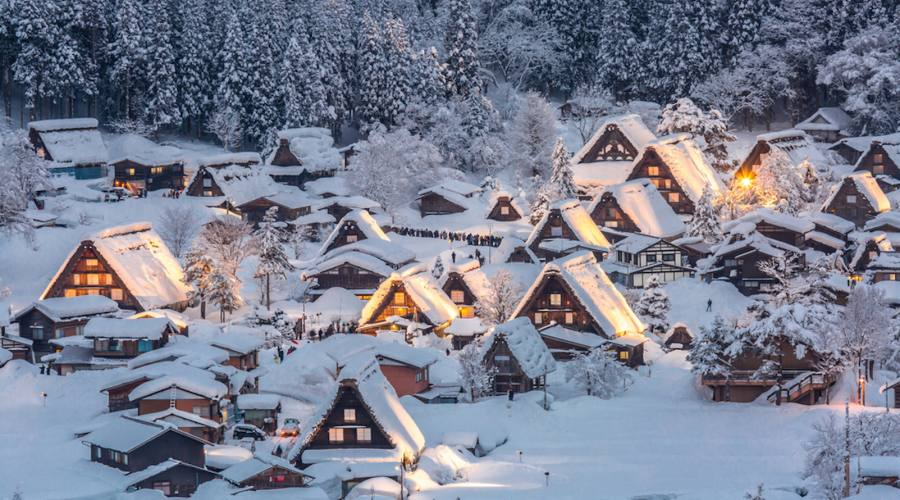 Shirakawago - Paesaggio invernale