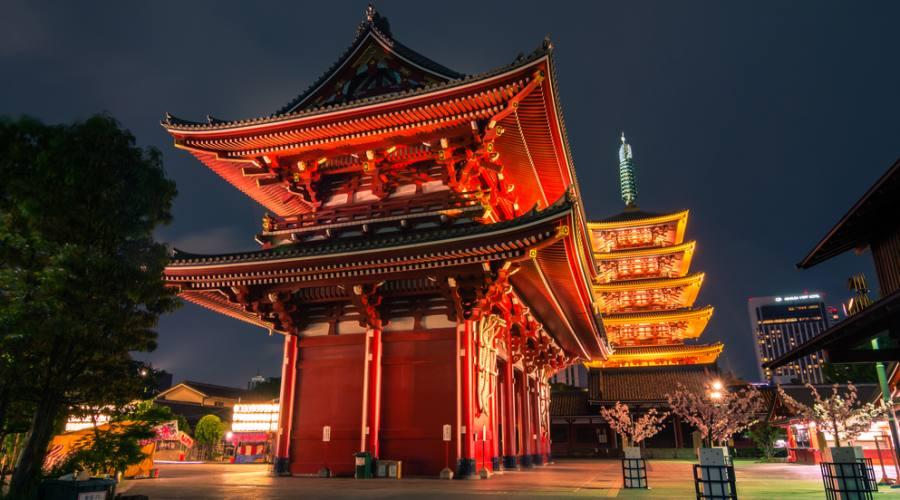Il Tempio Asakusa Kannon a Tokyo