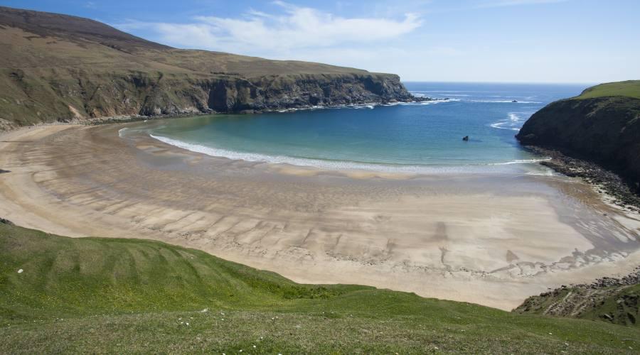 Spiaggia dorata in Donegal