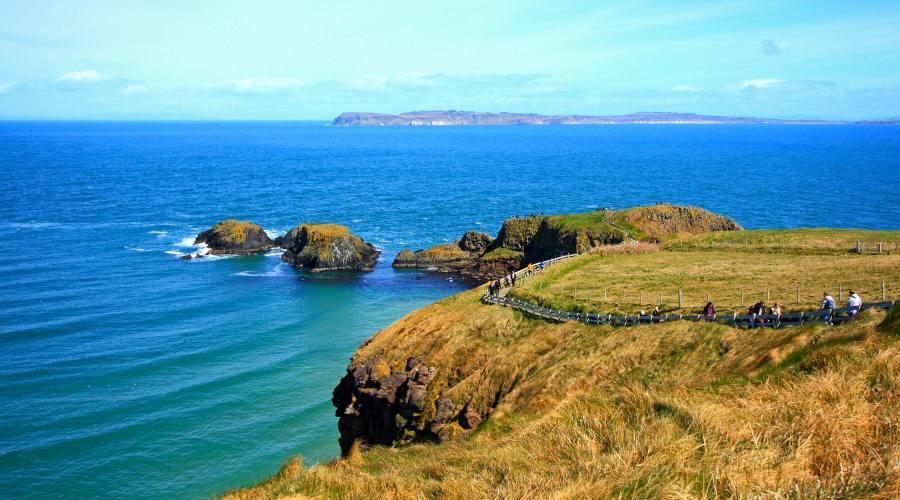 Carrick-A-Rede Ponte di corda nell'Irlanda del Nord
