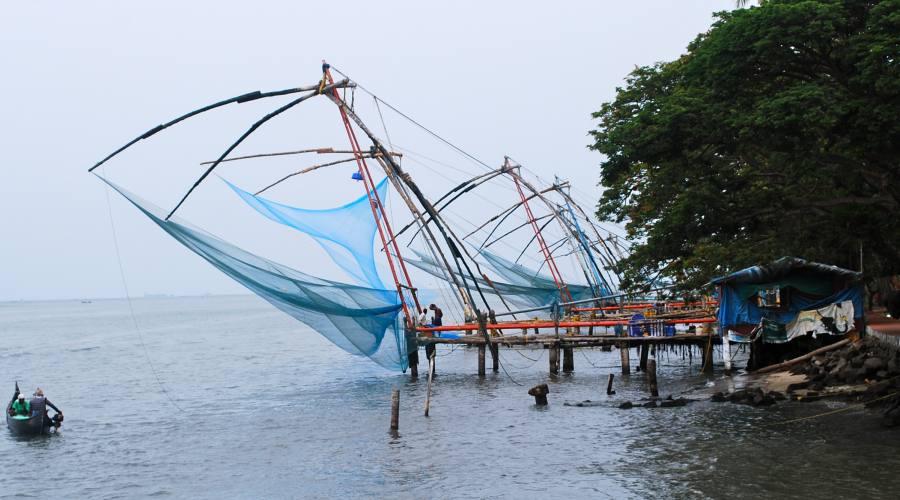 Tipica pesca del sud dell'India