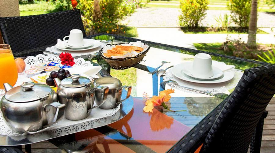 Cote d'Or Chalet colazione in veranda
