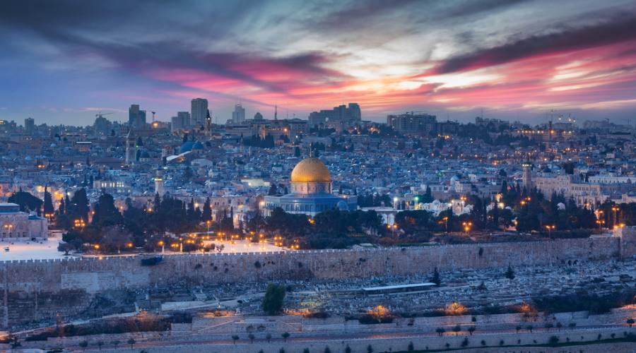 Panorama di Gerusalemme al Tramonto