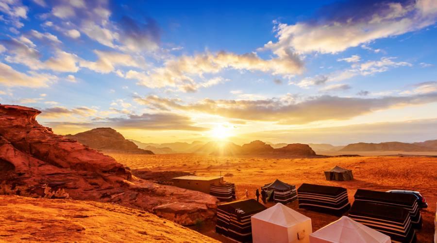 Campo Tendato nel Deserto del Wadi Rum