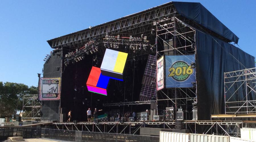 Isle of MTV Malta: Palco