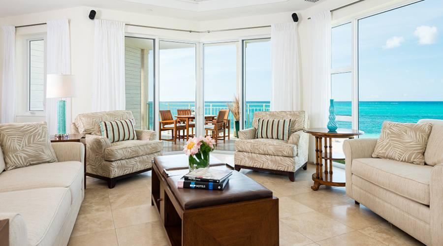 Ocean Front Luxury One Bedroom Suite Living Room