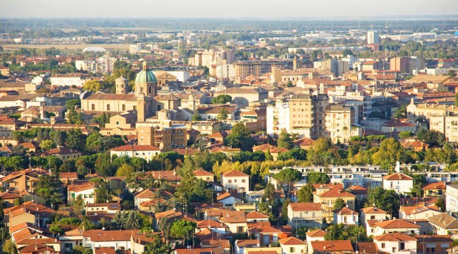 Ravenna vista dall'alto
