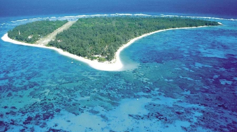 Denis Island dall'alto