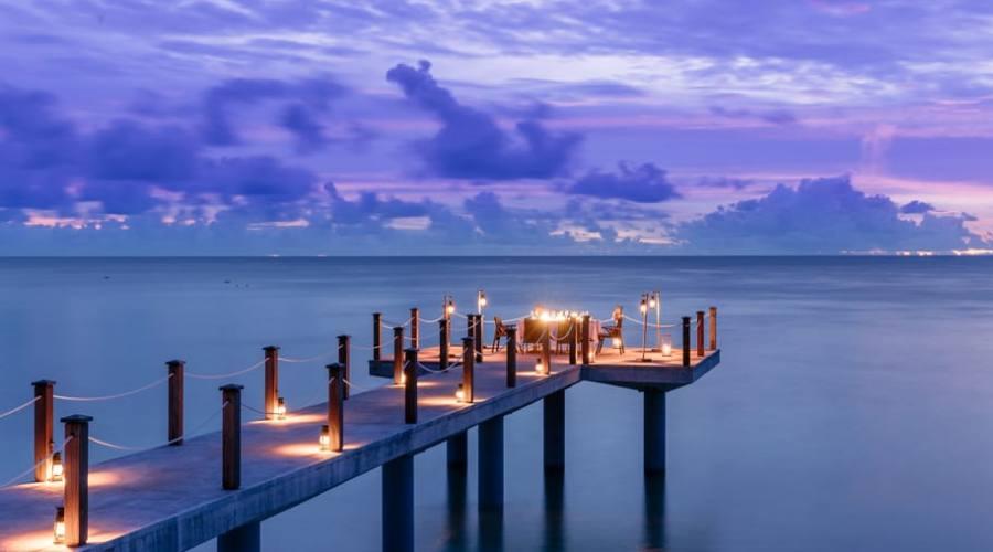 Cena romantica sotto le stelle