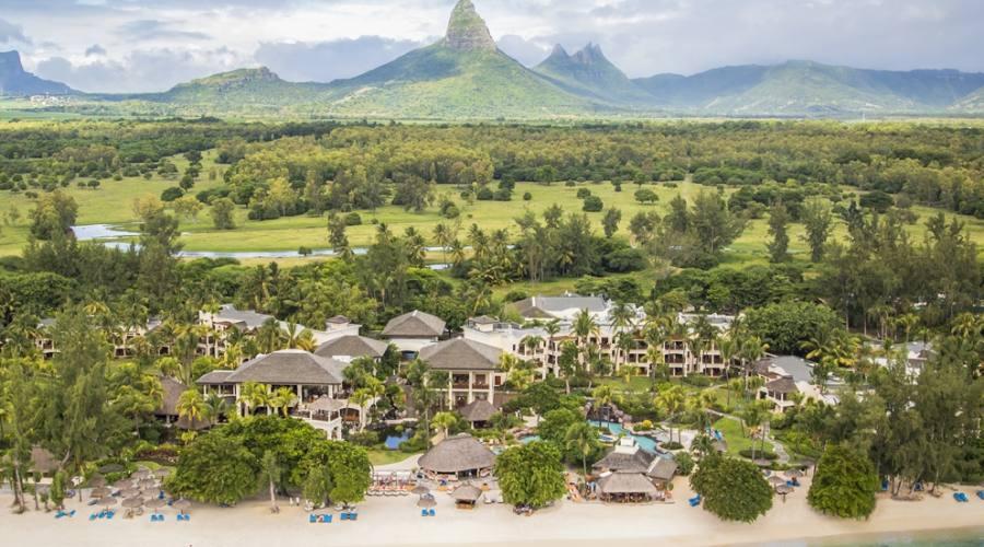 Vista dall'alto del resort