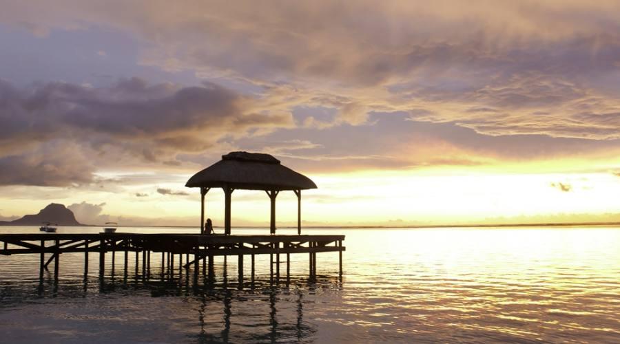 Il tramonto al molo