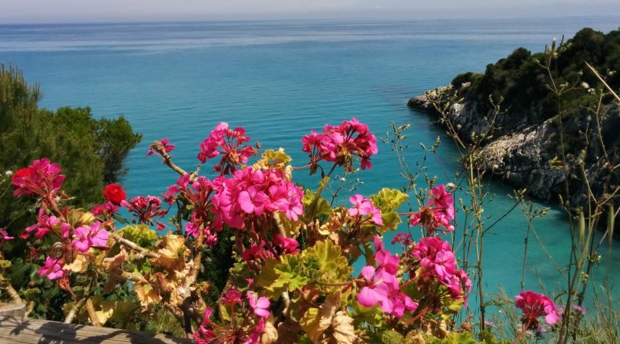 Vista panoramica vicino spiaggia di  Xighia