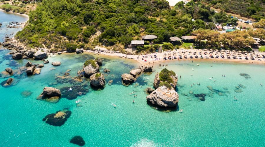 Porto Azzurro, spiaggia a sud di Zante town