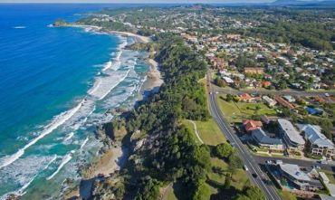 Costa orientale autraliana in libertà sulla Pacific Highway