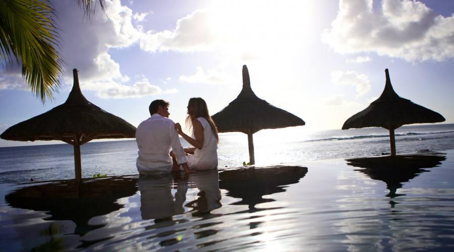 Vista romantica sull'oceano