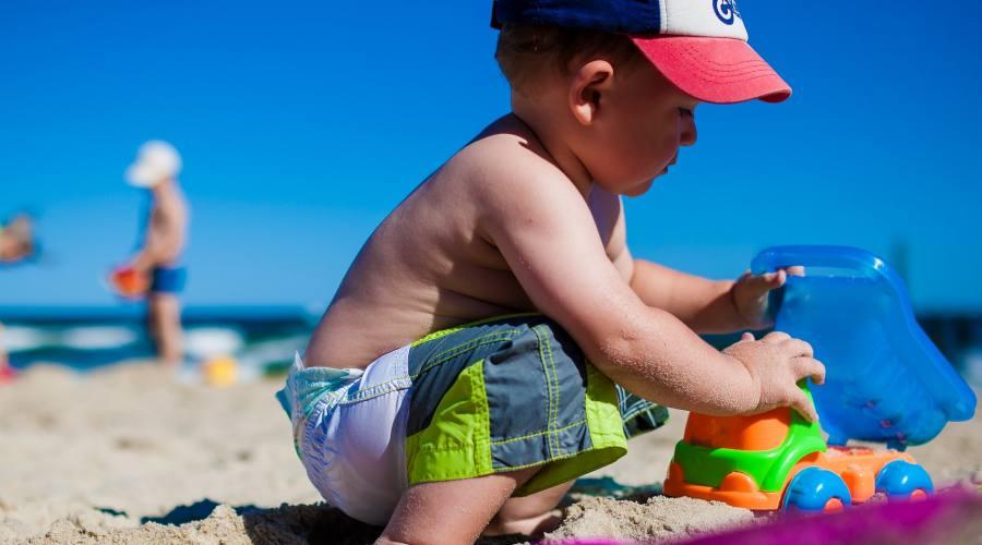 Giocando in spiaggia