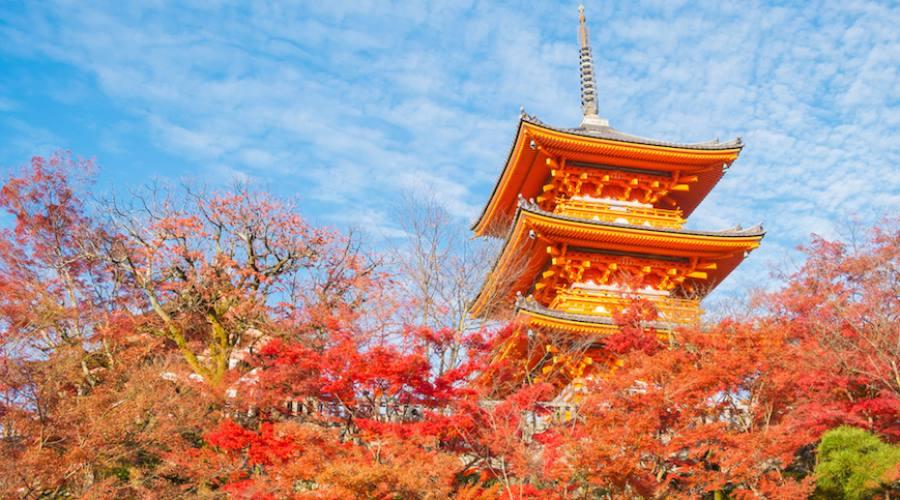 Kyoto - Pagoda del tempio Kiyomizu-dera