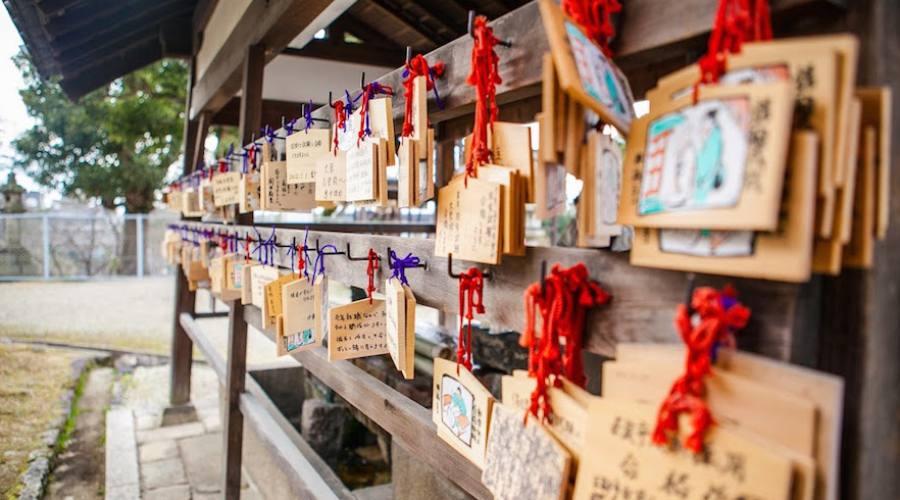 Kyoto - Tavolette votive al tempio