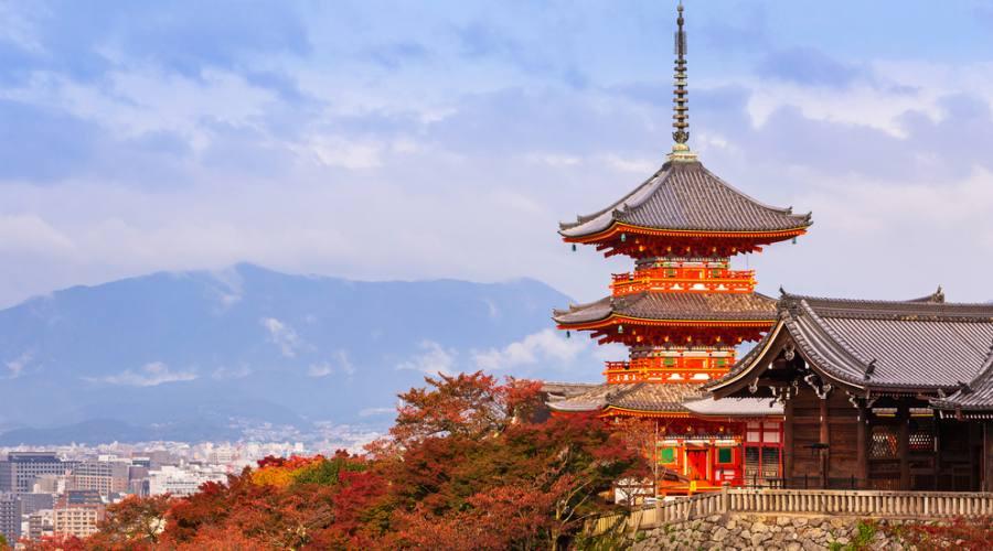 La Pagoda del tempio Kiyomizu-Dera a Kyoto