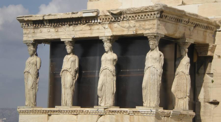 Cariatidi, Partenone, Atene