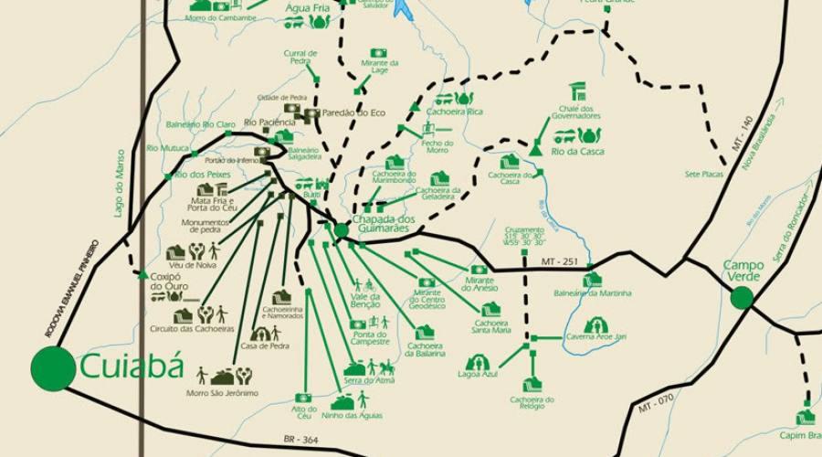 Tour Pantanal Completo: mappa