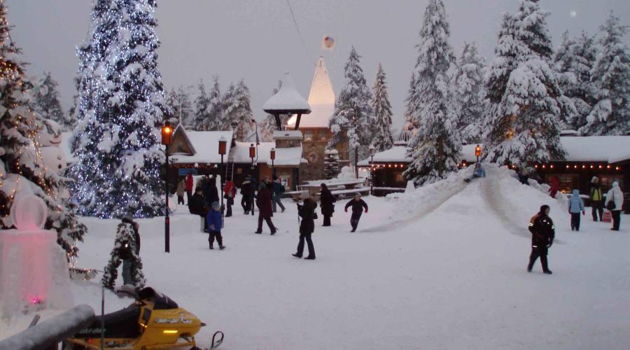 vista con la neve