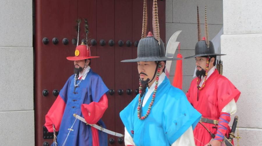 Seoul - Guardie di Palazzo Reale