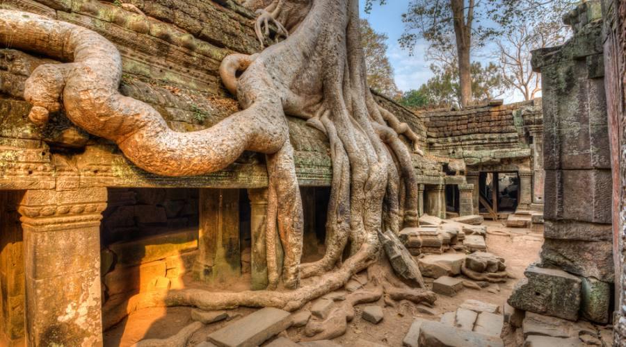 Cambogia: particolare di un tempio