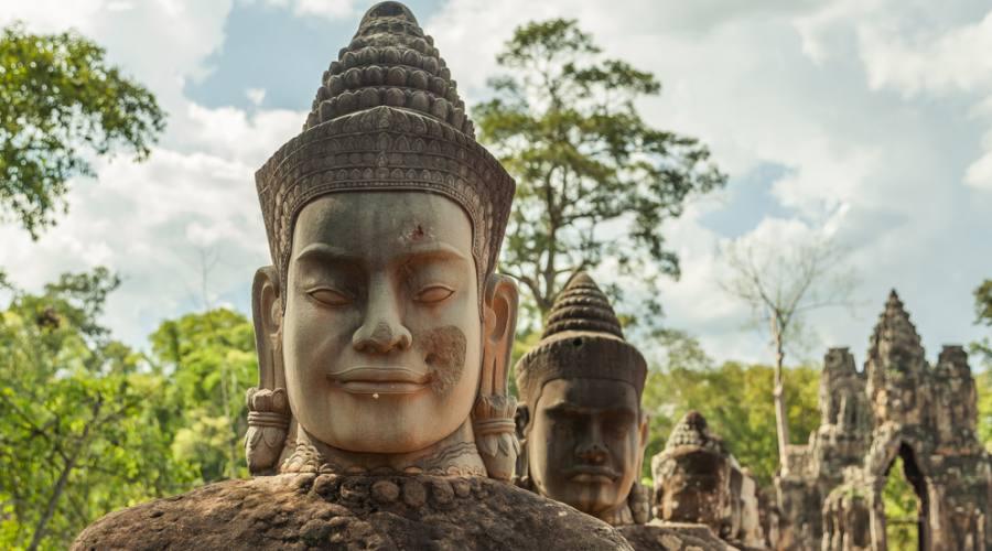 Particolare di un tempio ad Angkor Wat